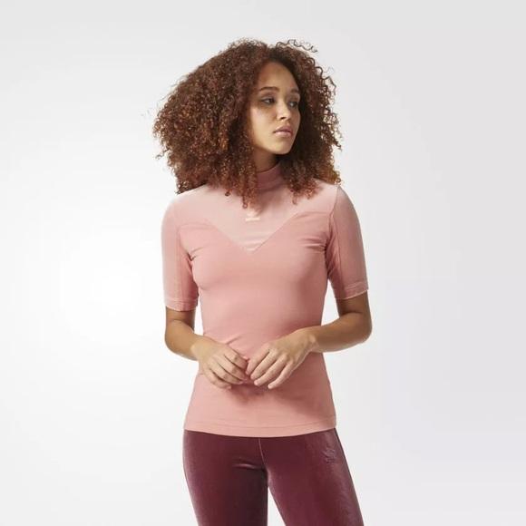 0b58a69ac adidas Tops   Originals Velvet Vibes High Neck Tee Cv9440   Poshmark